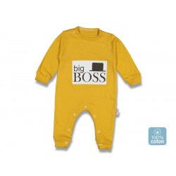 Combi layette imprimé BIG BOSS - Moutarde