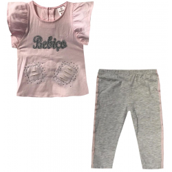 Set bébé fille tunique + legging - Bebiço rose