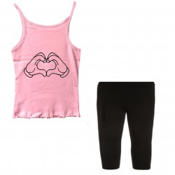 Ensemble Débardeur + legging court - Mickey love