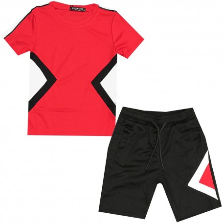 Ensemble sport Tshirt + short - Rouge