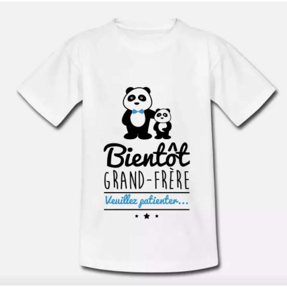 T-shirt enfant blanc - Bientôt grand frère, futur grand-frère