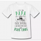 T-shirt enfant blanc - J'ai un papa motard carrement plus cool